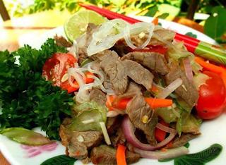 Kerabu Daging Thai Cara Buat
