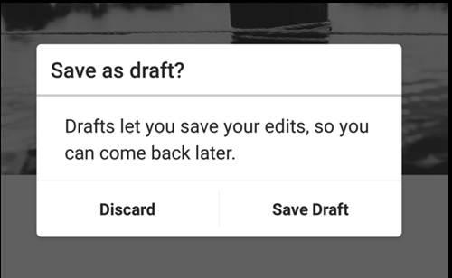 Instagram Sudah Dilengkapi Fitur 'Save Draft'
