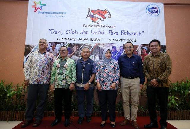 PT. FFI  Perkuat Program Farmer2Farmer di Jawa Barat Bagi Peternak Sapi Perah