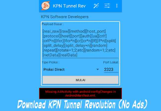 Cara Download KPN Tunnel Revolution Apk Mod Tanpa Iklan (No Ads) Terbaru 2019