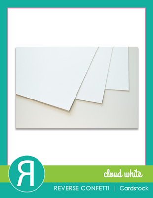 cloud white cardstock