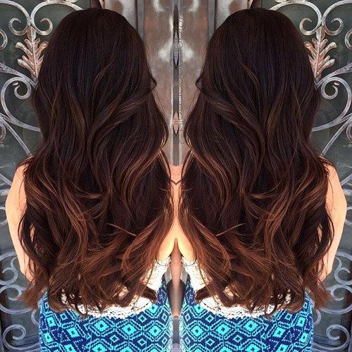 mahogany hair color with highlights 13