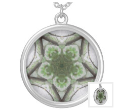 Tree Mist Pattern Jewelry Necklace green