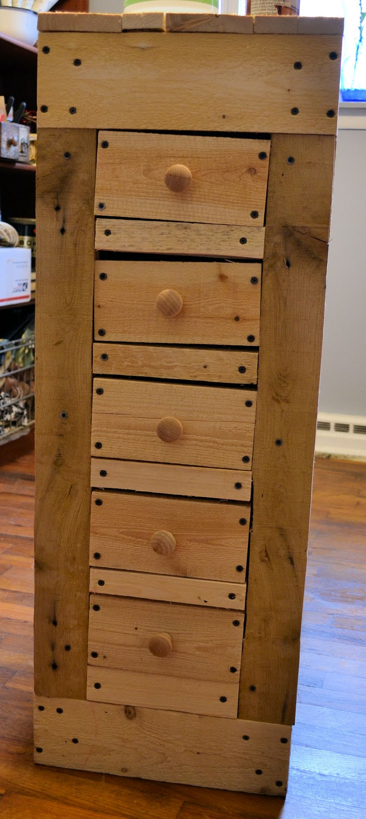 Remodelaholic how to make a rustic pallet cabinet for How to make rustic cabinets