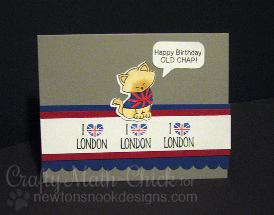 London Birthday Card by Crafty Math-Chick | Newton Dreams of London 4 x 6 Cat Stamp set by Newton's Nook Designs #newtonsnook #london