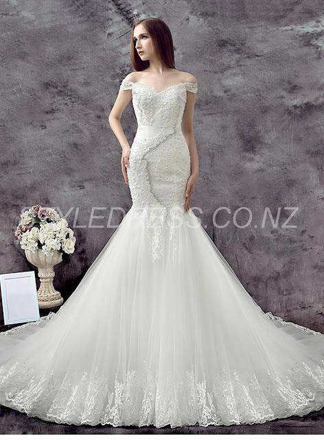 Delicate Sweetheart Backless Appliques Mermaid Wedding Dress