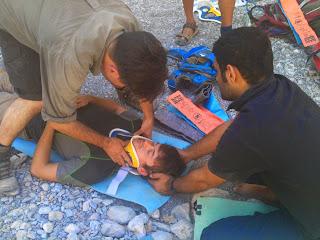 spinal neck cervical stabilization sam splint wilderness first responder