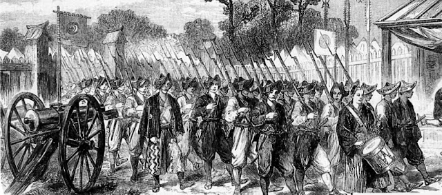 Shoguante Troops (1864 Illustration from London News)