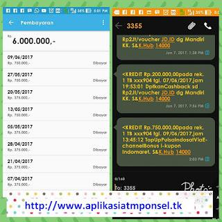 Butki penghasilan dari Aplikasi atm ponsel dapat uang 6Juta