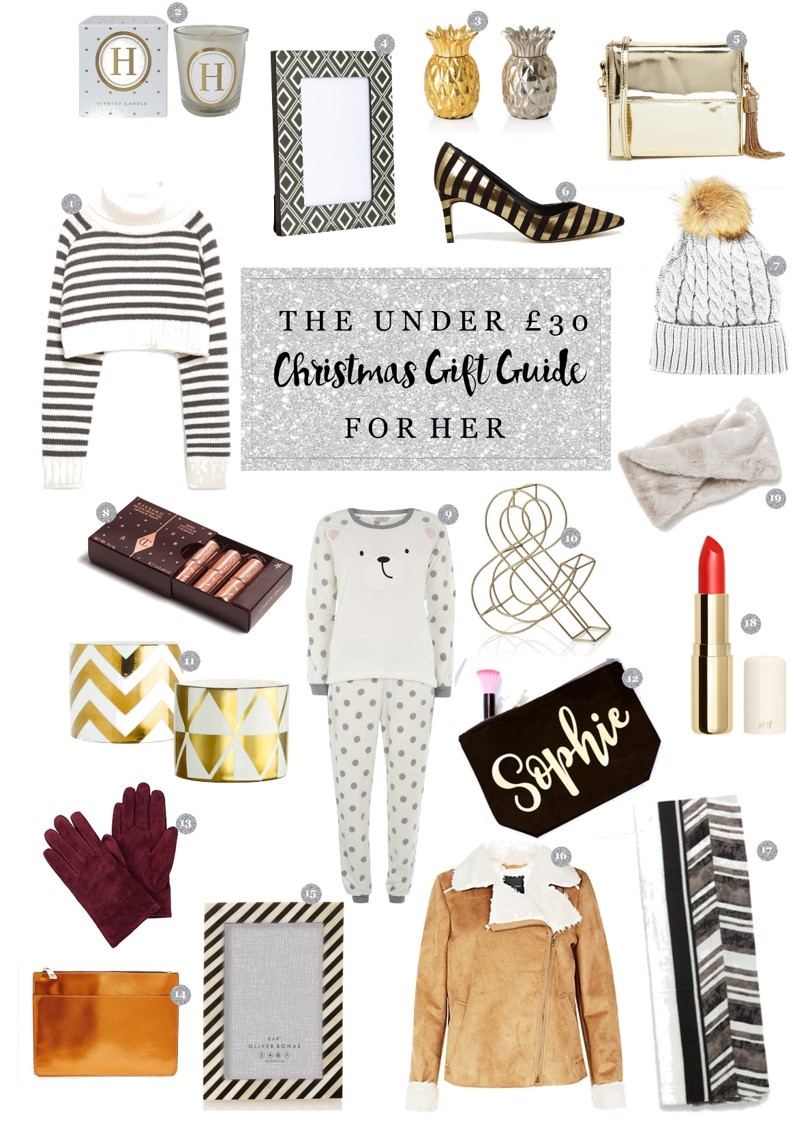 clothes and stuff gift guide under £30 for her clothesandstuff