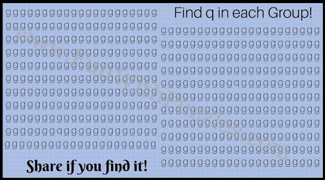 Hunt for hidden letter q