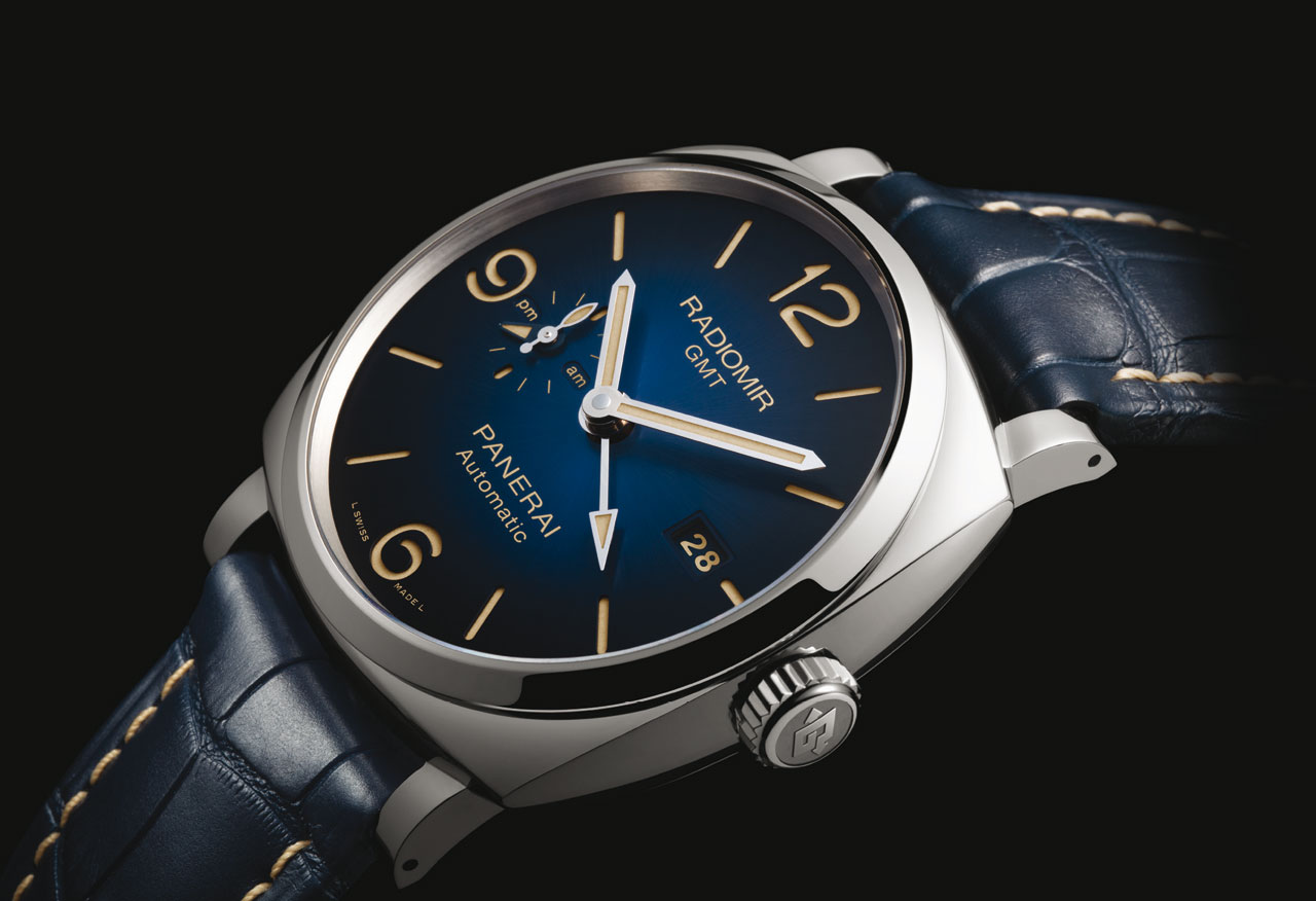 officine panerai radiomir 1940 blue dials time and watches