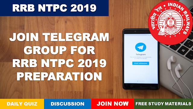 RRB NTPC 2019 Telegram Group
