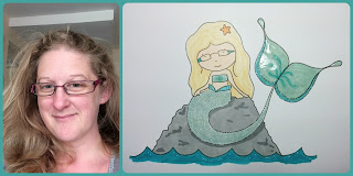 Personalised mermaid illustration - www.jennysis.com
