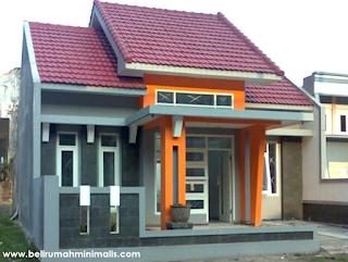Warna cat rumah minimalis perpaduan abu abu dan orange