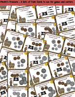 Coin Counting Task Cards Unit