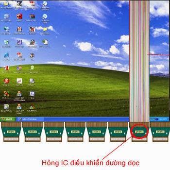Hỏng IC điều khiển đường dọc sẽ dẫn đến mất một phần hình ảnh dọc màn hình