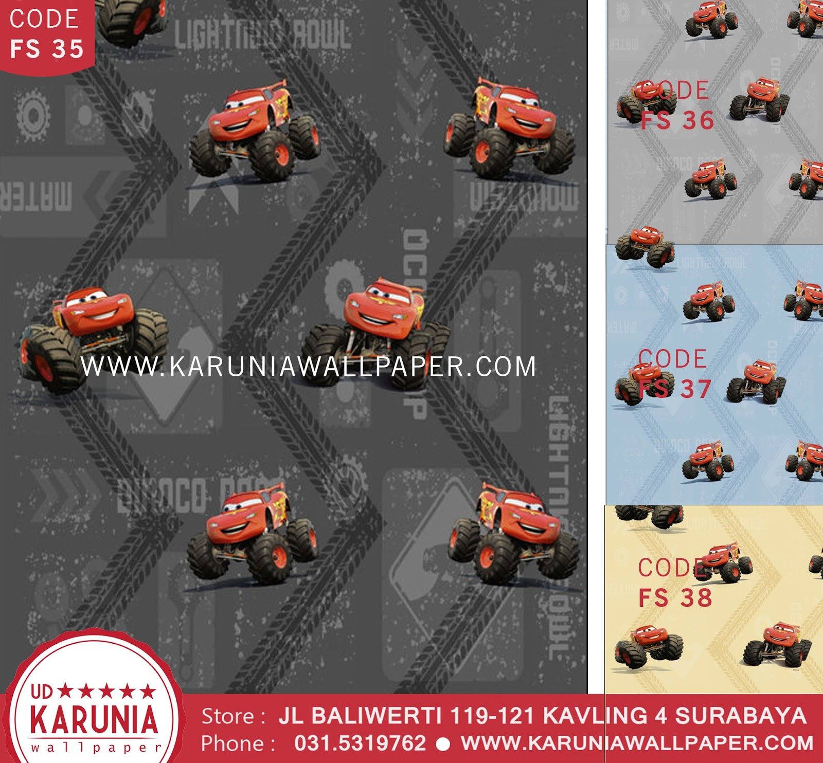 jual wallpaper dinding disney cars surabaya karuniawallpaper