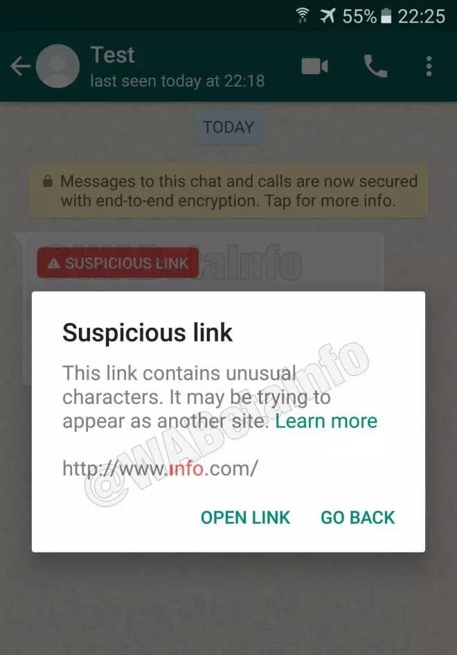 whatsapp bakal blokir url web