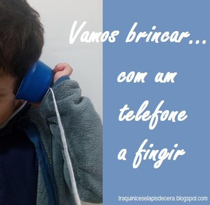 Telefone de copos