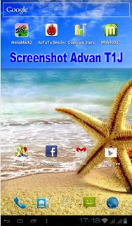 Cara Screenshot Tablet Advan T1J dan T1J+