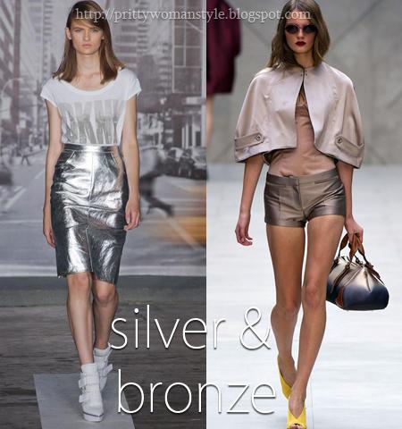 Сребърно или Бронзово метално пролет-лято 2013