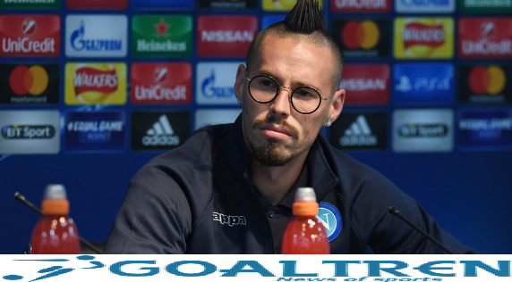 The new Hamsik scored one goal for Napoli this season, and he is only one goal apart from a record 115 goals of the Argentine legend