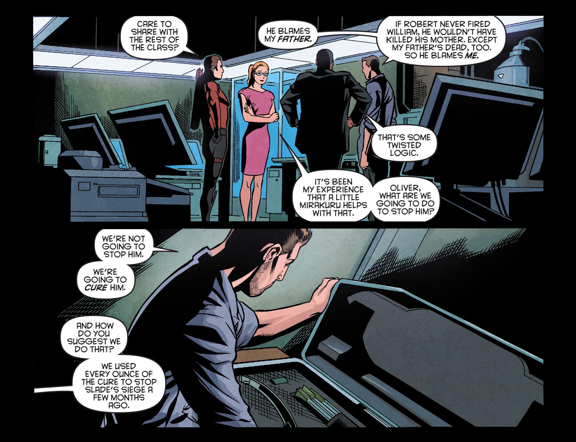 Read online Arrow: Season 2.5 [I] comic -  Issue #18 - 19