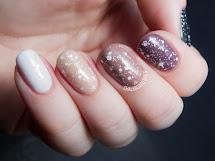 Mauve Glitter Ombre Nails