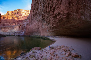 red wall cavern grand canyon colorado green water sand beach whereisbaer chris baer
