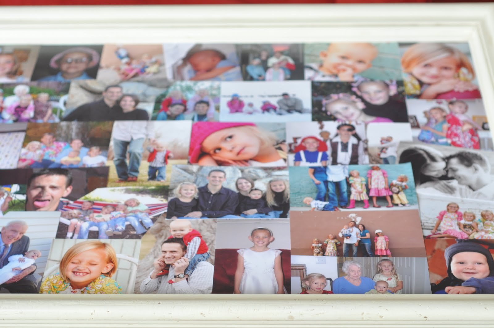 Family Picture Collage Coffee Table