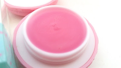 close up of the macaron lip balm