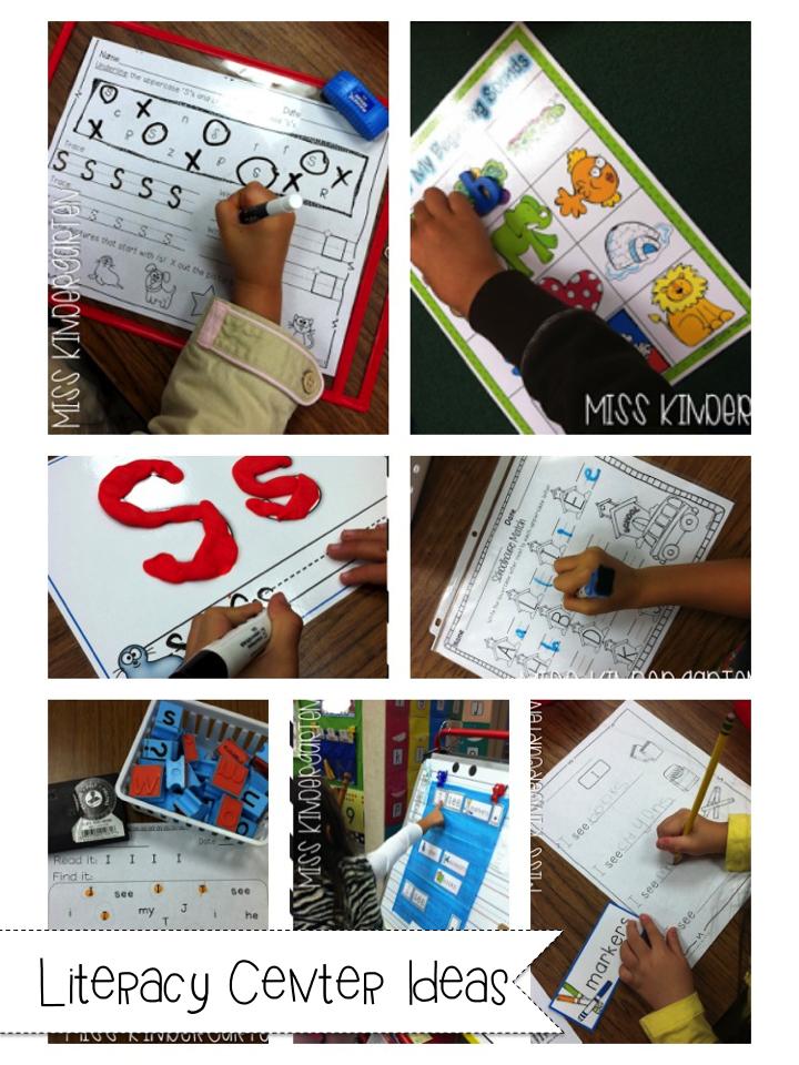 Slide1 - Literacy Centers Kindergarten
