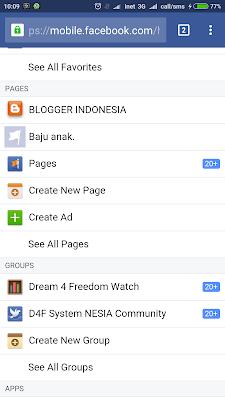 halaman depan facebook