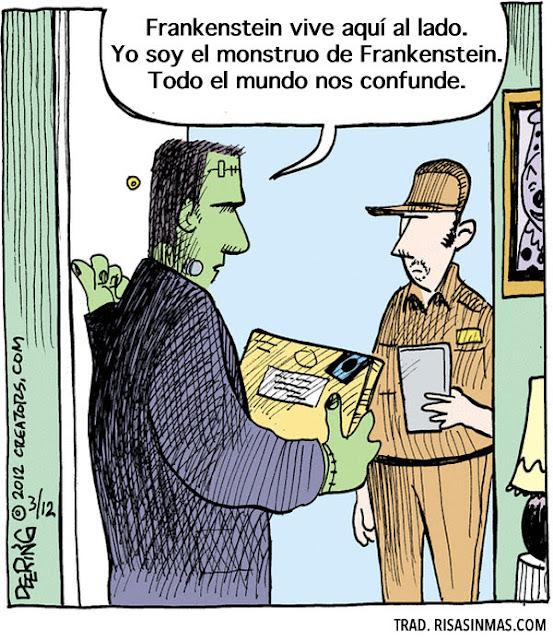 Meme de humor sobre el monstruo de Frankenstein