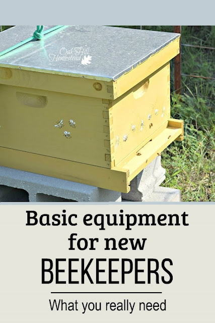Here's the basic equipment you'll need when you bring home your first bees.