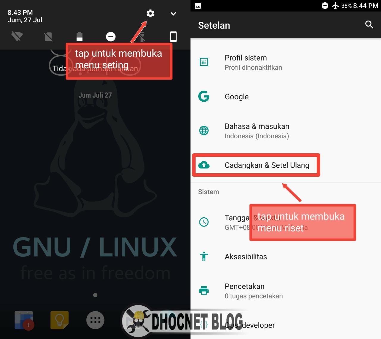 Cara Seting Ulang Ponsel Android