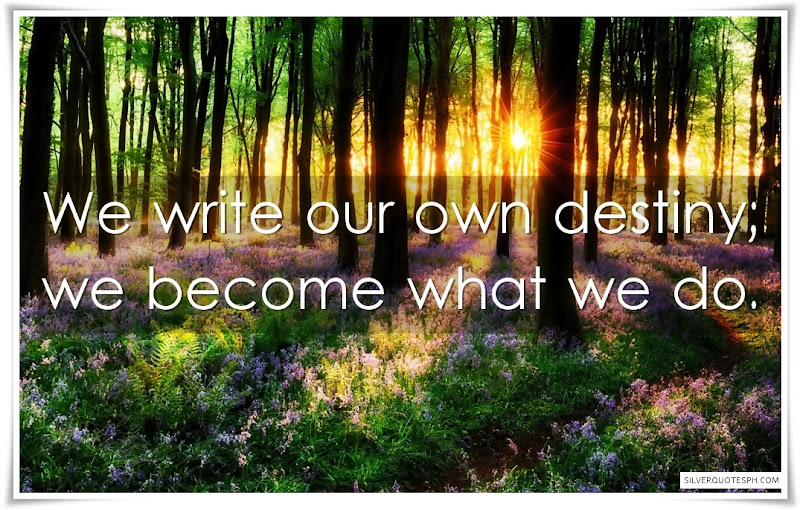 We Write Our Own Destiny