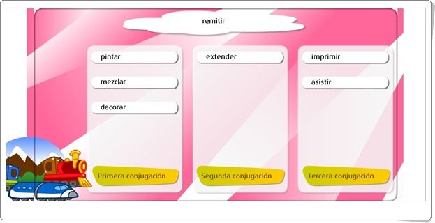"""""""El verbo. Las conjugaciones"""" (Juego de Lengua Española de Primaria)"""