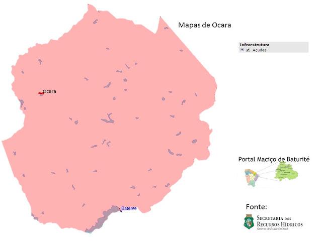 Mapas de Ocara - Açudes