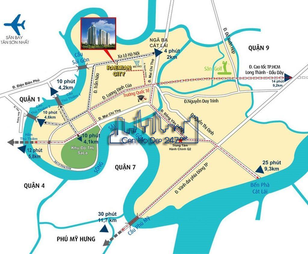 Vị trí dự án An Phú An Khánh - Căn hộ Raemian City Quận 2