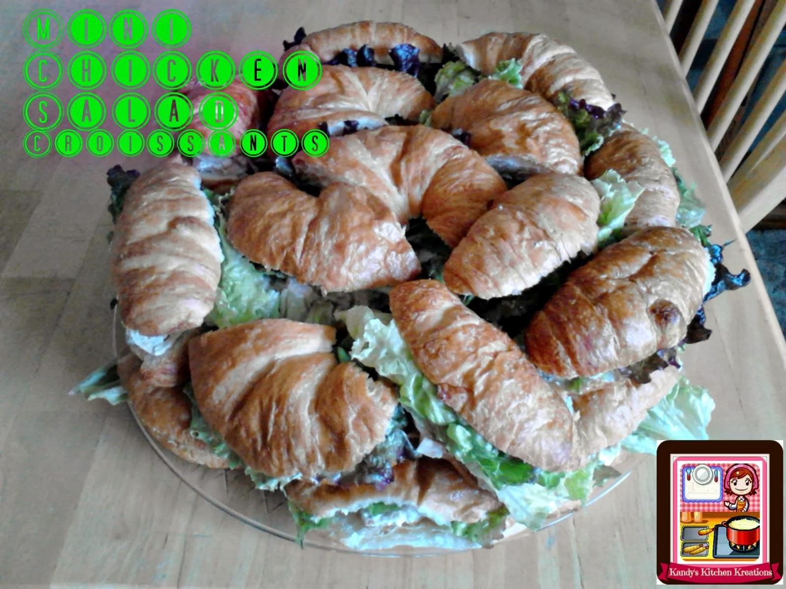 Mini Chicken Salad Croissants Kandy S Kitchen Kreations