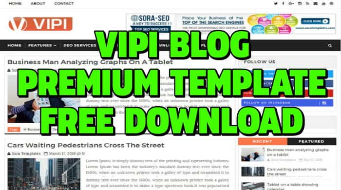 vipi blog blogger template,vipi blog premium blogger template