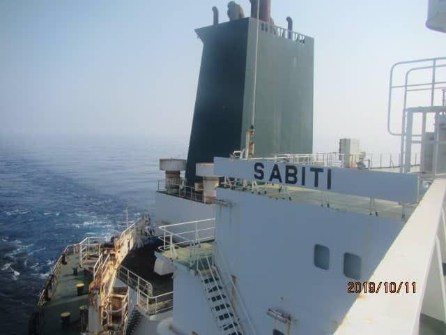 Tankkuģis Sabiti pārvietojās Sarkanajā jūrā