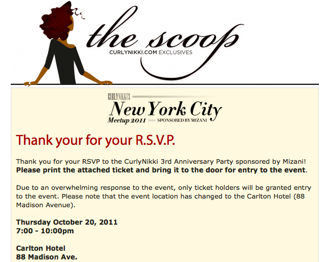 Here's the scoop: Curly Nikki NYC Meetup