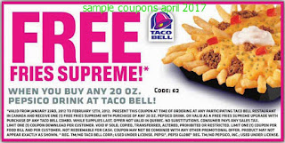 Taco Bell coupons april 2017