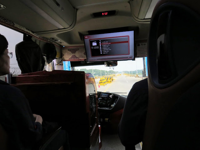 Coach bus into the DMZ in South Korea