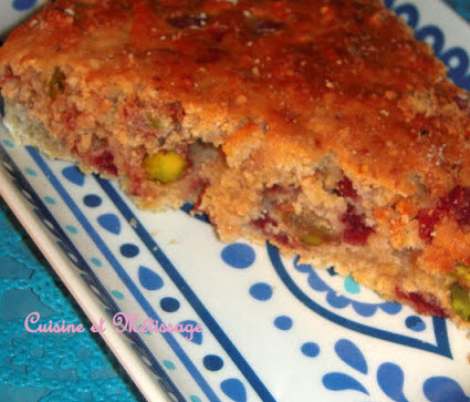 cake citronnade cranberries pistaches