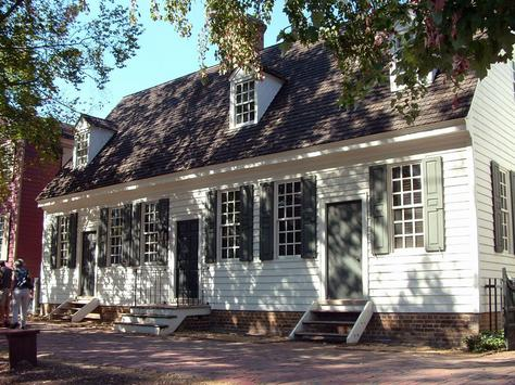 John Crump House Williamsburg Before and After Restoration