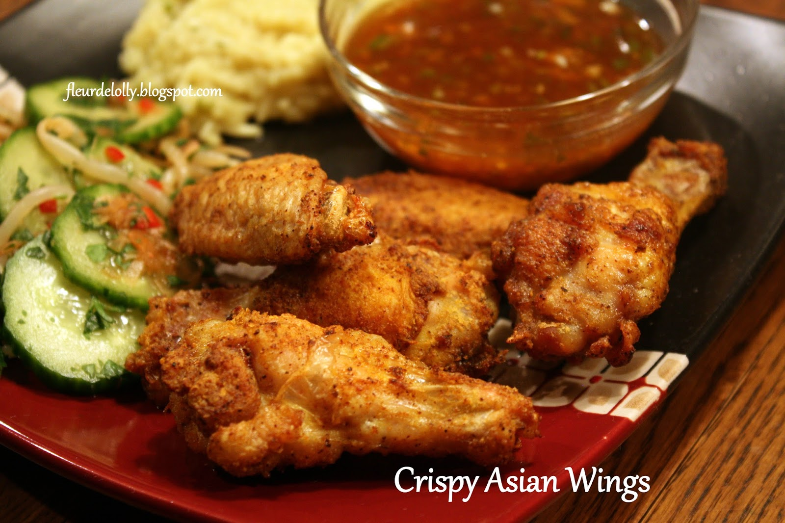 Fleur de Lolly: Crispy Asian Wings with sweet-hot sauce served with ...